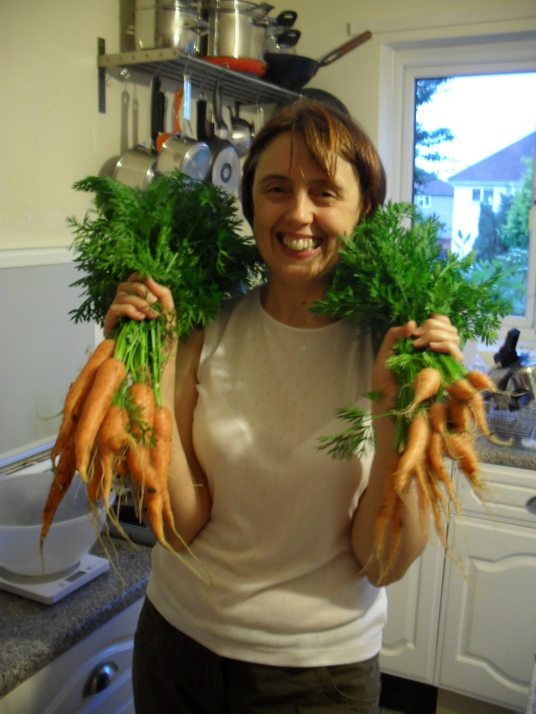 Yes we did get more carrots (Helen plot 15)